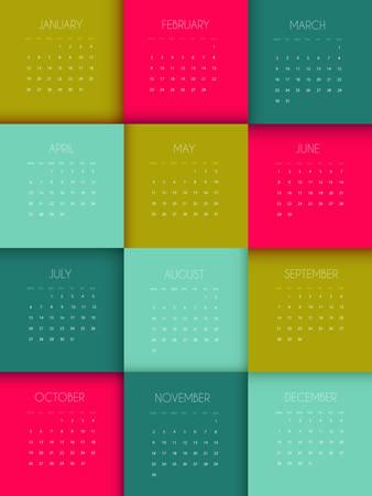 illustration of Calendar for 2015 year Vector
