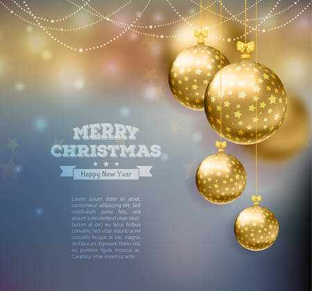 Vector illustration of Christmas balls template background Vector