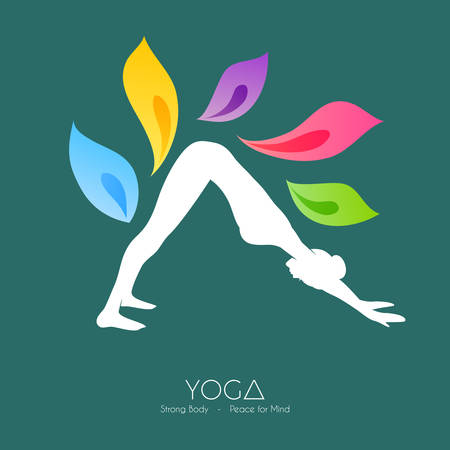 Vector illustration of Beautiful woman doing yoga Vector