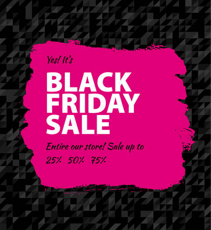 Vector illustration of Black friday big sale Vector