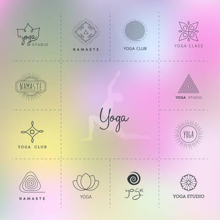illustration  for a yoga studio