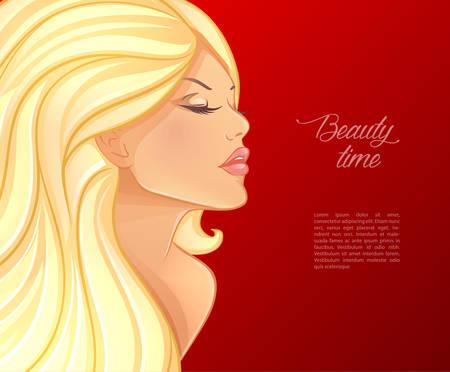 Illustrazione della bella e giovane donna Archivio Fotografico - 33682898
