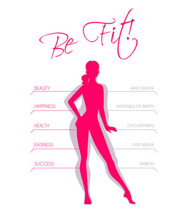 Vector illustration of Problems with excess weight Illustration