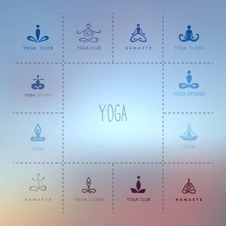 namaste: Vector illustration  for a yoga studio