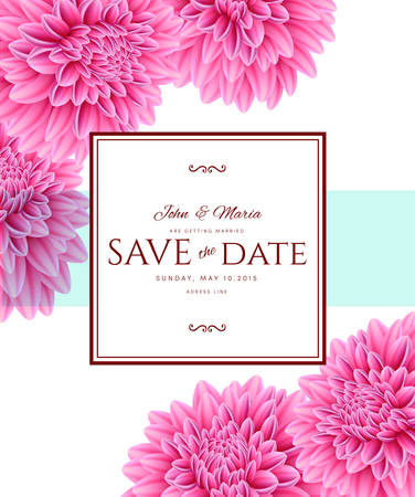 Vector illustration of Template card Save the Date 向量圖像