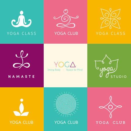 namaste: Vector illustration for a yoga studio Illustration