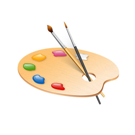 Vector illustration of Palette for watercolor paint  イラスト・ベクター素材