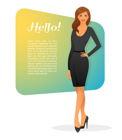 Vector illustration of Beautiful and young woman Vector