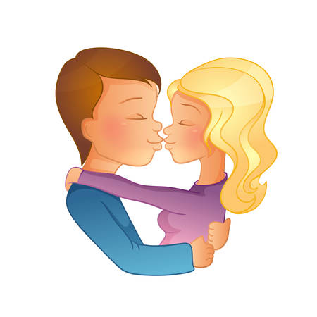 father of the bride: Vector illustration of Happy Valentines day, couple image
