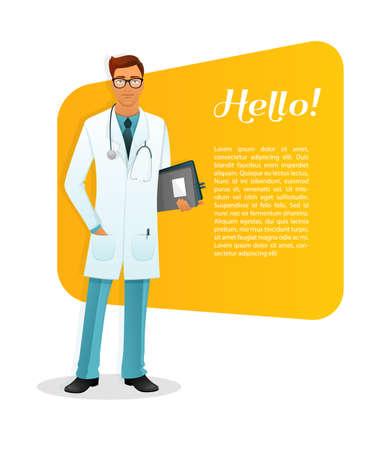 doctoras: Ilustraci�n del vector del car�cter hombre Doctor