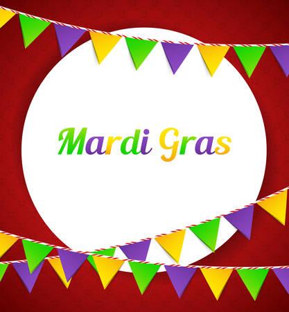 mardi gras background: Vector illustration of Mardi Gras background with flags Illustration