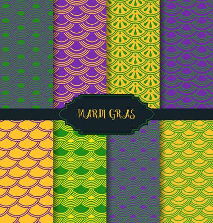 Vector illustration of Mardi Gras pattern backgrounds Vector