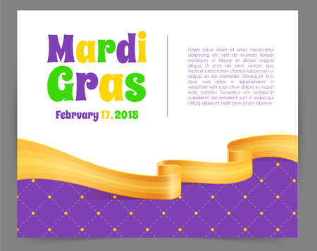 mardi gras: Vector illustration of Mardi Gras background with ribbon