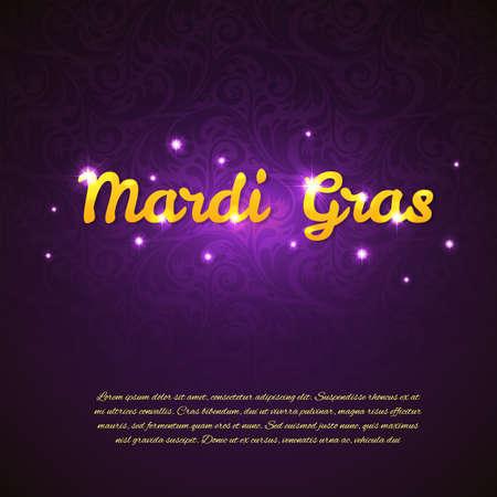 Vector illustration of Mardi Gras beauty background Vector