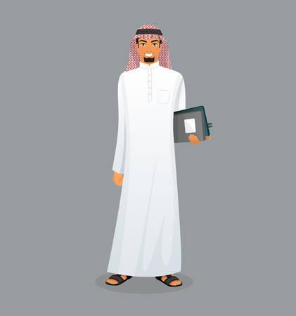 hombre arabe: Ilustraci�n del vector del car�cter del hombre �rabe de