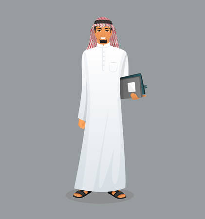 oman background: Vector illustration of Arabic man character image