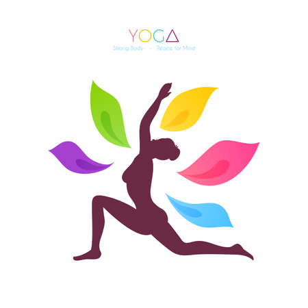 body painting: Vector illustration of Beautiful woman doing yoga
