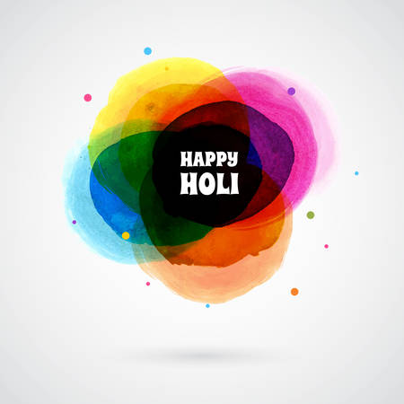 Vector illustration of Happy Holi card template