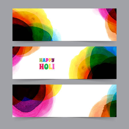 traditional events: Vector illustration of Happy Holi card template