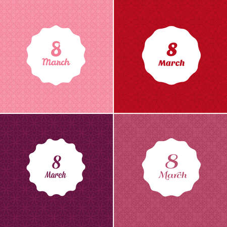 woman beautiful: Vector illustration of Happy Womens day template