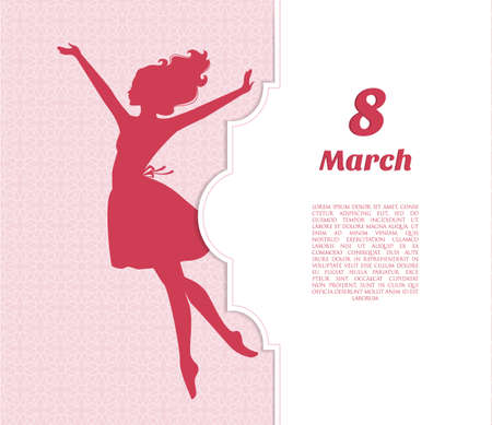 Vector illustration of Happy Women Day background