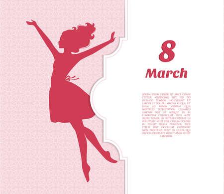 Illustrazione vettoriale di Happy Women Day background Archivio Fotografico - 36889754