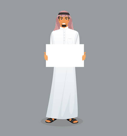 saudi: Vector illustration of Arabic man character image