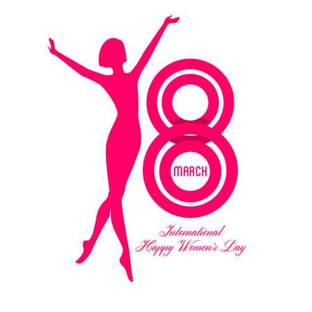 Women's health: Vector illustration of Happy Women Day background