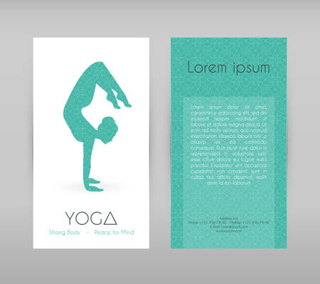 asanas: Vector illustration of Woman doing yoga asanas, flyers Illustration