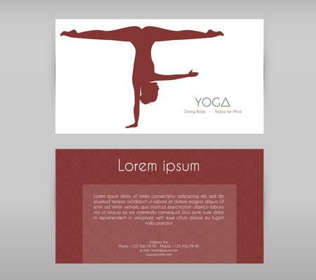 asanas: Vector illustration of Woman doing yoga asanas, flyers Illustration