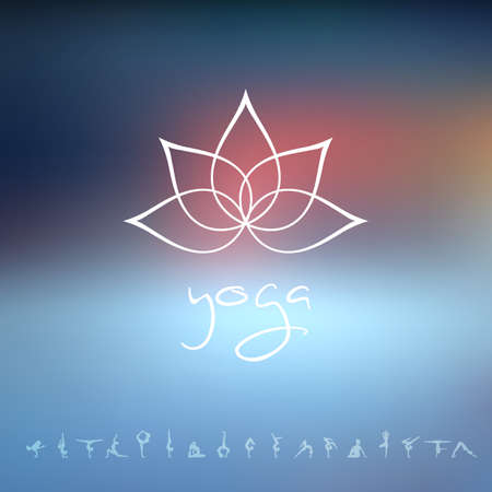 buddha lotus: Vector illustration of Logo for a yoga studio