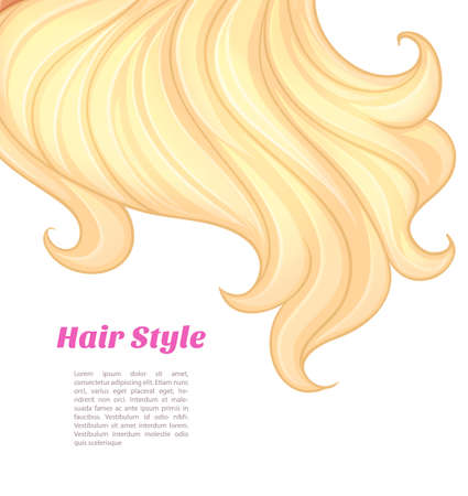 pretty blonde girl: Vector illustration of Beautiful and young woman