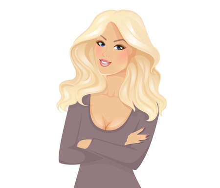 Vector illustration of Beautiful and young woman Banco de Imagens - 44488567