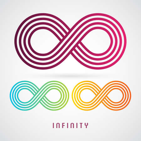 signo de infinito: Ilustraci�n vectorial de Infinity signo, diferente color Vectores
