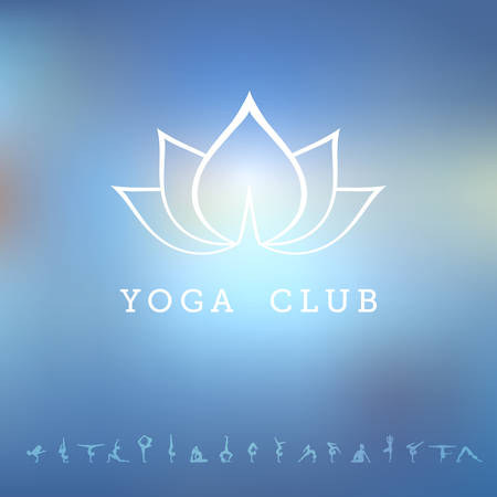 buddha lotus: Vector illustration of  for a yoga studio
