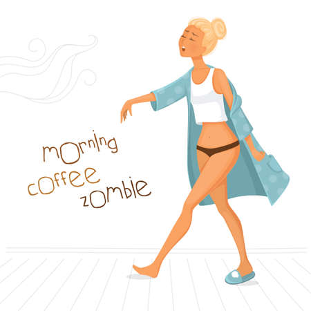 Morning coffee zombie
