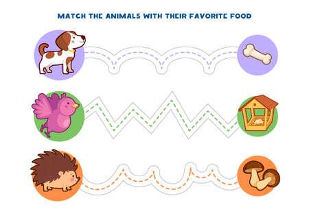 Jeux éducatifs imprimables pour le développement de la motricité fine chez les enfants. Le doigt de bébé permet le long des pistes. Illustration vectorielle