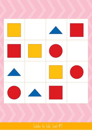 Educational children game. Illustration