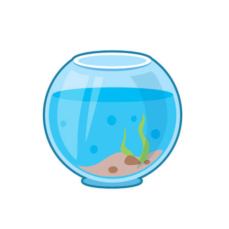 Vector illustration of fish aquarium on white background  イラスト・ベクター素材