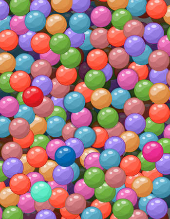 Vector illustration of plenty of colorful small balls