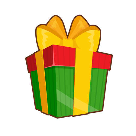 Vector illustration of colorful gift box on white background 向量圖像