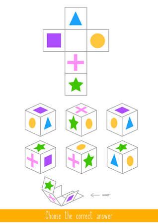 Juego educativo para niños. Encuentra la respuesta correcta. Ilustración vectorial