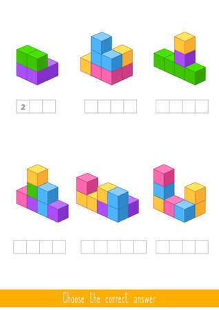 Educational game for kids. Find the correct answer. Vector illustration