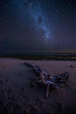 Milky way over a tropical beach