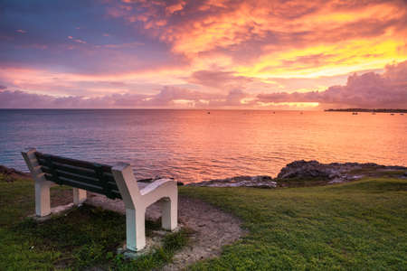 This bench offers the opportunity to enjoy a wonderful ocean view.