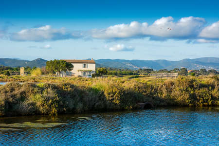 Country house in a lagoon