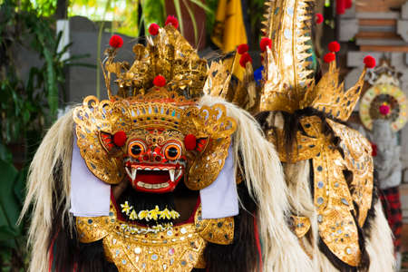 Traditional Balinese show interpreted by actors with colorful costumes