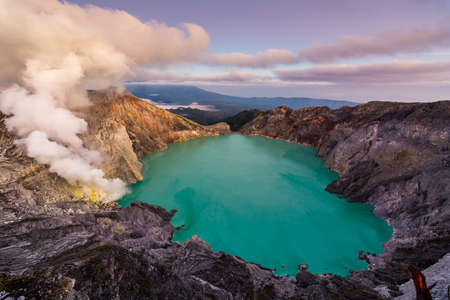 Ijen crater is famous for its blue fire that appear during nightime and it is one of the main attraction in Indonesia