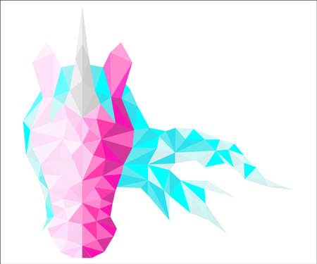 Magic low poly unicorn