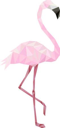 De flamingo is historisch en mythologisch symbool van positiviteit. Stock Illustratie